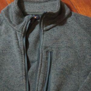 Other - Mens Trout Bum Poly Knit Orvis Front Zip Jacket Sz